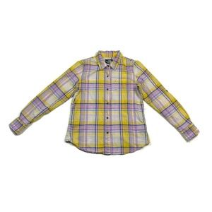 The North Face Shirt Long Sleeve Plaid Purple Yell